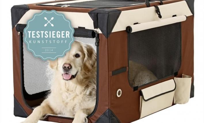 Unser Testsieger: Karlie Hunde Transportbox Smart Top De Luxe, beige/braun
